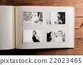 Mothers day composition. Photo album, black-and 22023465