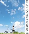自行車 腳踏車 騎自行車 22023480