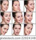 Woman different facial expressions 22024148