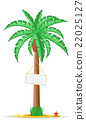 palm tree with a sign vector illustration 22025127
