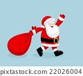 Santa Claus running with the bag of the presents 22026004
