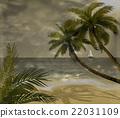 Vector tropical beach  22031109