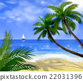 Vector tropical beach  22031396