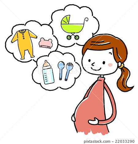 插圖素材:孕婦分娩準備 22033290