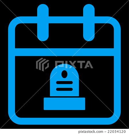Death Date Icon - Stock Illustration [22034120] - PIXTA