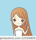 girl with make up  brush 22036895