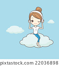 girl listen musice on cloud 22036898