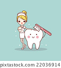 tooth and nurse with toothbrush 22036914