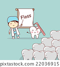 dentist teach teeth use floss 22036915
