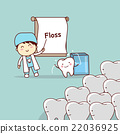 dentist teach teeth use floss 22036925