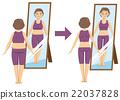 瘦身 中年 女人 22037828