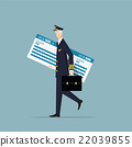 Aircraft Captain Carrying a Big Boarding Pass. 22039855