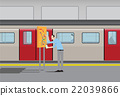 Man looking at subway map. 22039866