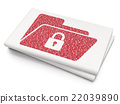 Finance concept: Folder With Lock on Blank 22039890