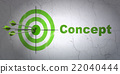 Marketing concept: target and Concept on wall 22040444