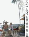 女性 咖啡廳 柱廊 22041754