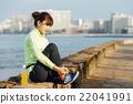 ผู้หญิง,รองเท้า,ชายฝั่งทะเล 22041991