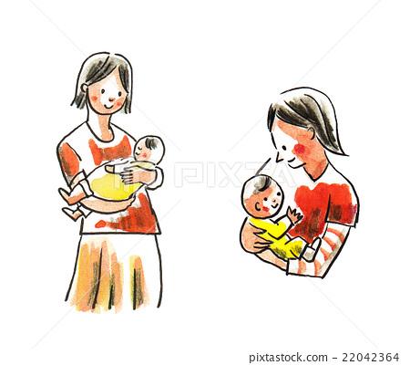 Illustration of mama hug 22042364