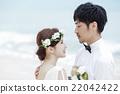 新郎 結婚了的 結婚 22042422