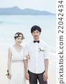 新郎 結婚了的 結婚 22042434