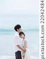 新郎 海滩 异性夫妇 22042484
