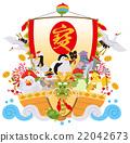 七福神 鸟儿 鸟 22042673