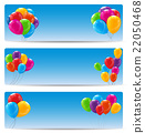 Color Glossy Happy Birthday Balloons Banner 22050468