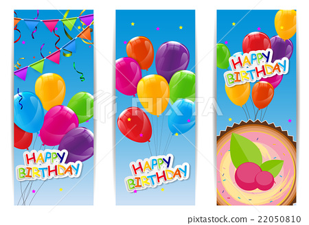 Amazing Color Glossy Happy Birthday Balloons And Cake Stock Illustration Birthday Cards Printable Benkemecafe Filternl