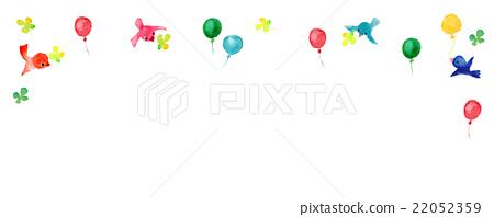 例證小的鳥氣球三葉草 22052359