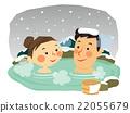 溫泉 冬天 冬 22055679