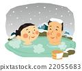 溫泉 冬天 冬 22055683