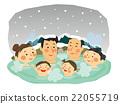 溫泉 冬天 冬 22055719