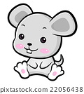 Lovable Rat Character. Asian Zodiac Character  22056438