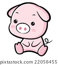 Lovable Pig Character.  Asian Zodiac Character  22056455