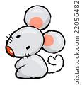 Unique Line Art style Rat Character.  Asian Zodiac 22056482