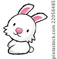 Unique Line Art style Rabbit Character.   Zodiac  22056485