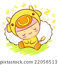 Bull Character is sleeping.  Asian Zodiac Mascot 22056513