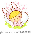Rabbit Character is sleeping.  Asian Zodiac Mascot 22056525
