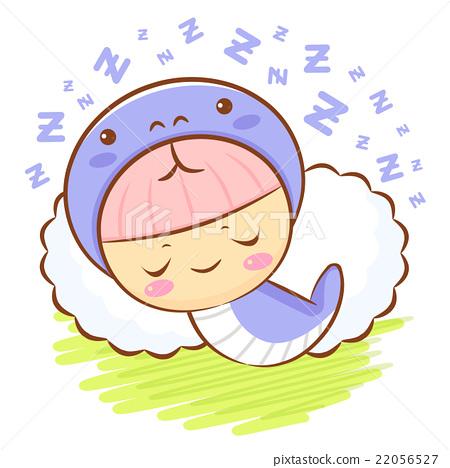 Snake Character is sleeping.  Asian Zodiac Mascot 22056527