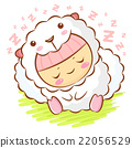 Sheep Character is sleeping.  Asian Zodiac Mascot 22056529