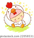 Chicken Character is sleeping.  Asian Zodiac  22056531