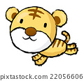 Tiger Character is running.  Asian Zodiac Mascot 22056606