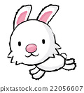 Rabbit Character is running.  Asian Zodiac Mascot 22056607