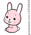 The Side sit down Rabbit Character.  Asian Zodiac 22056640