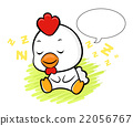 Chicken Character is having a dream.  Asian Zodiac 22056767