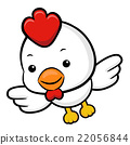 Chicken Character is flying to the sky.  Zodiac 22056844