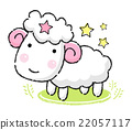 Unique Line Art style Aries Mascot. Sheep  22057117