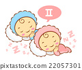 Twins Mascot is sleeping. Zodiac Character 22057301