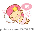 Virgo Mascot is sleeping. Zodiac Character 22057328