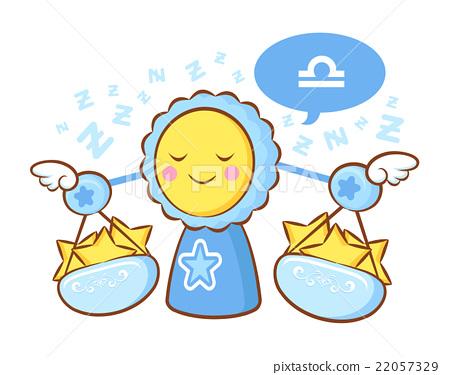 Libra Mascot is sleeping. Zodiac Character  22057329